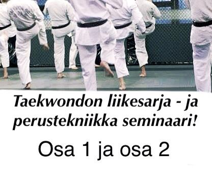 Taekwondon liikesarjat ja perustekniikka seminaarit osa 1 ja osa 2!