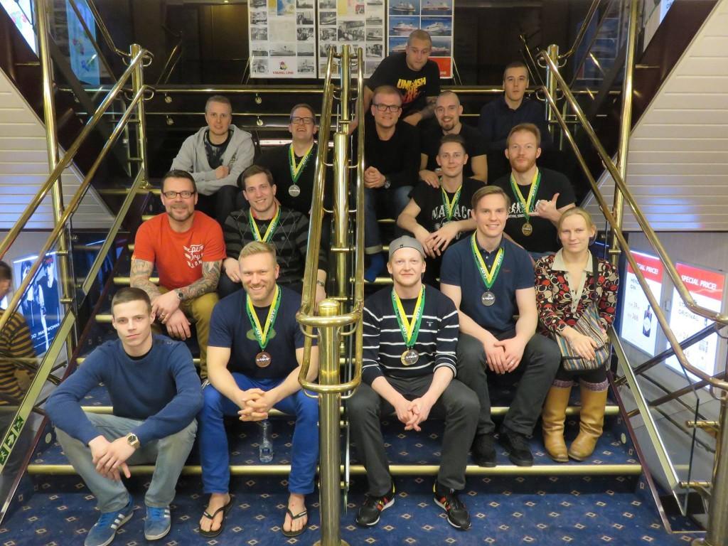 Tukholmassa järjestetty BJJ Nordic Open 2015  kisa oli menestys Hipkon kisaajille!