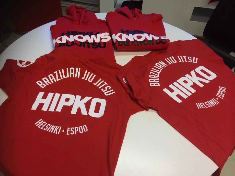 Hipko taekwondo ja BJJ huppari sekä t-paidat ovat saapuneet!