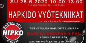 Sinmoo Hapkido leiri ja graduointi su 28.6. Metsälän sali