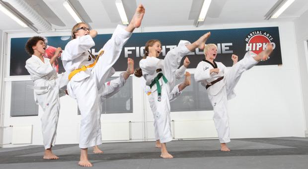 Taekwondon peruskurssien vyökoe Metsälän salilla 9.4.2016