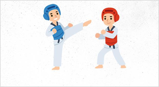 Taapero- ja Tiikeri Taekwondon natsakokeet lauantaina 7.12.