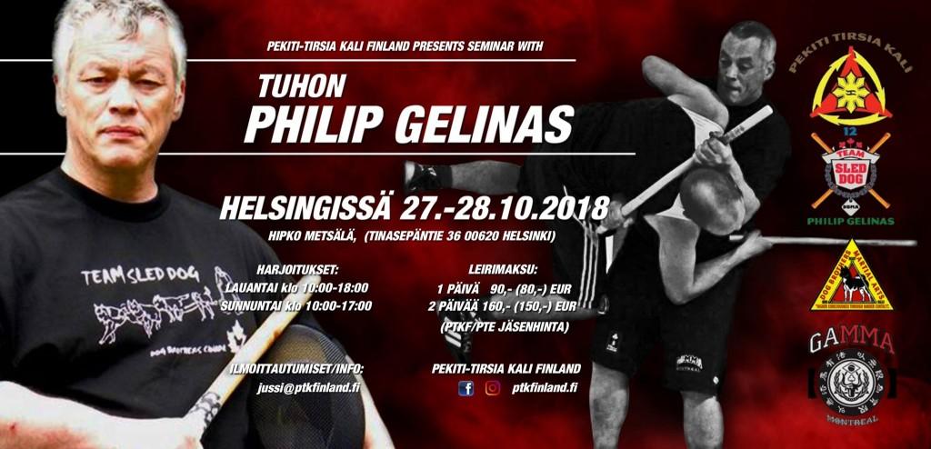 Philip Gelinas - Pekiti Tirsia Kali -seminaari 27.-28.10