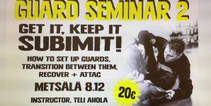 BJJ guard seminaari