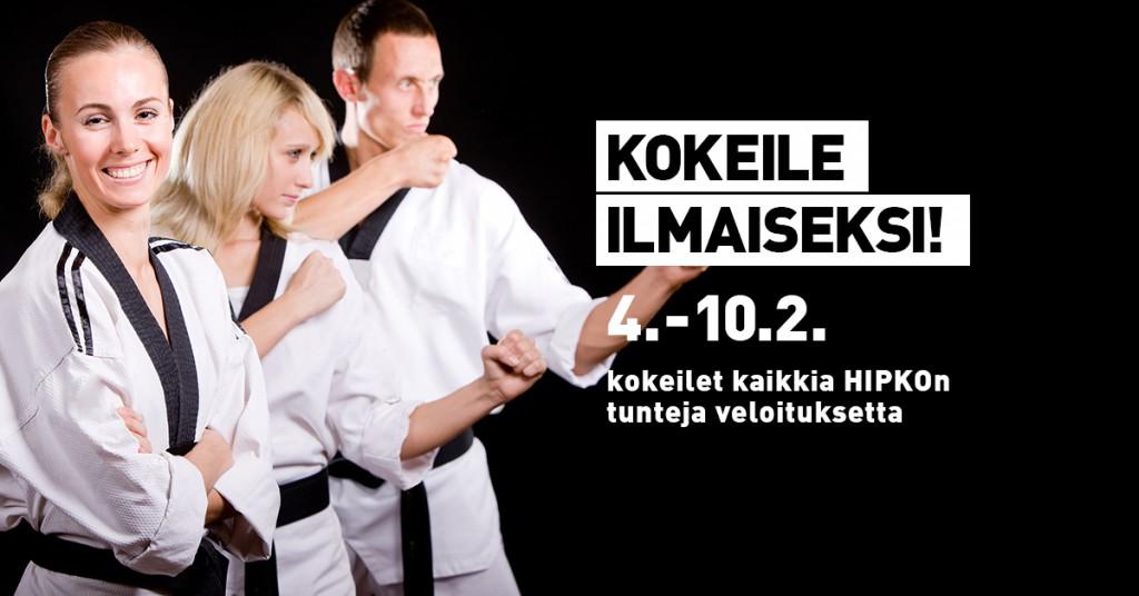Hipkon ilmainen kokeiluviikko 4.-10.2.2019!